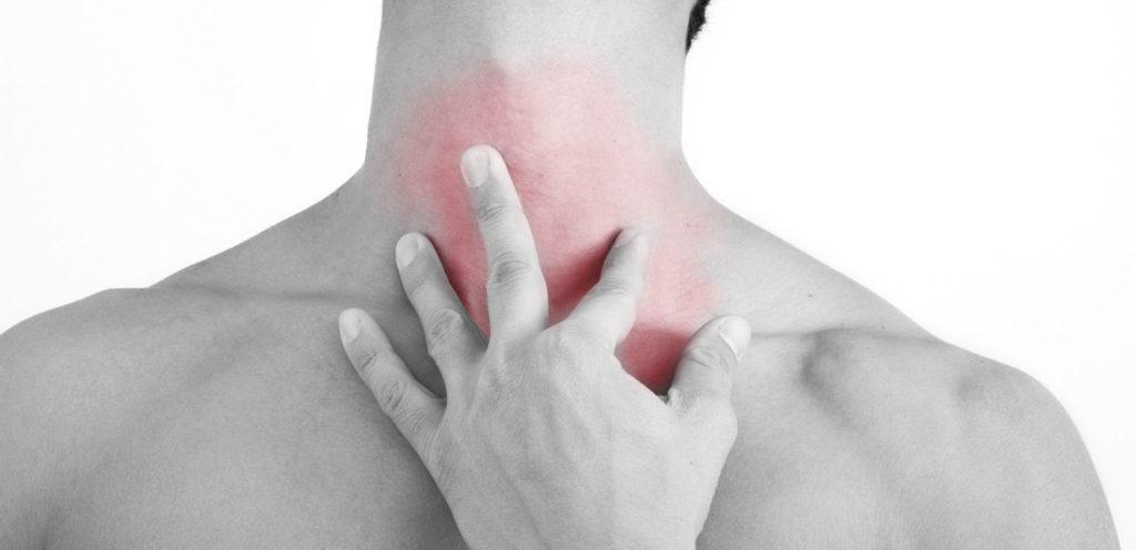 Боль в горле от шейного остеохондроза