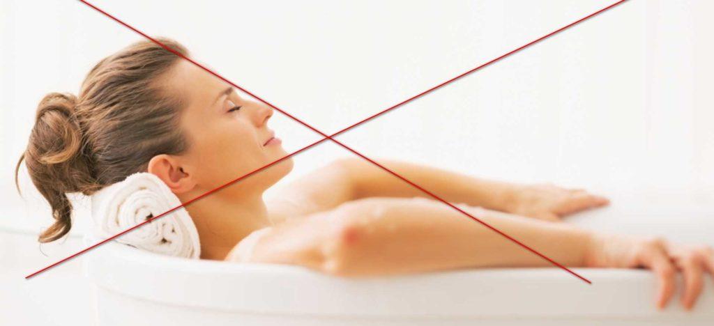 Противопоказания для принятия лечебных ванн