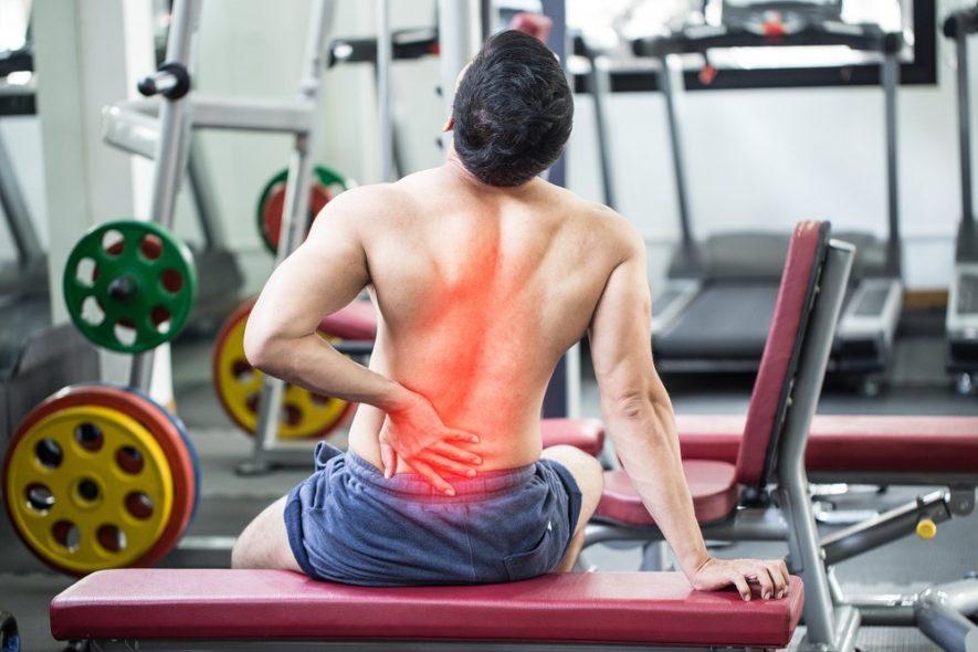 Боль в спине у спортсменов