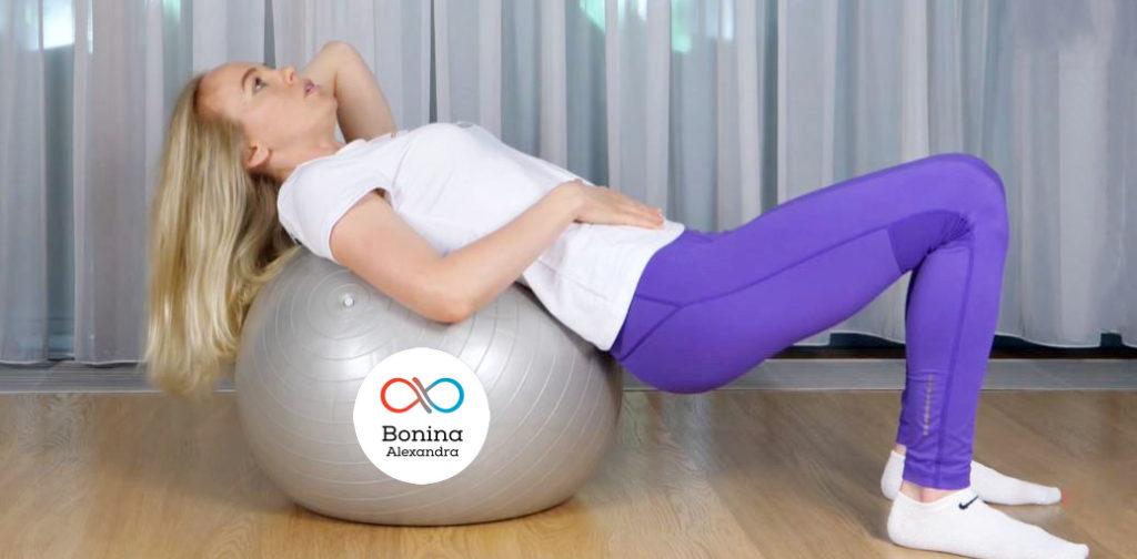 Польза упражнений на фитболе при остеохондрозе