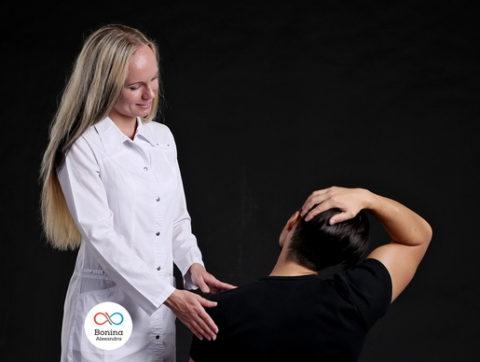 Как снять боль в шее при остеохондрозе