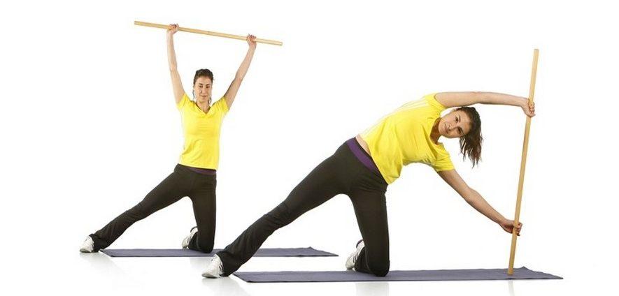 Как правильно делать гимнастику с палкой при остеохондрозе