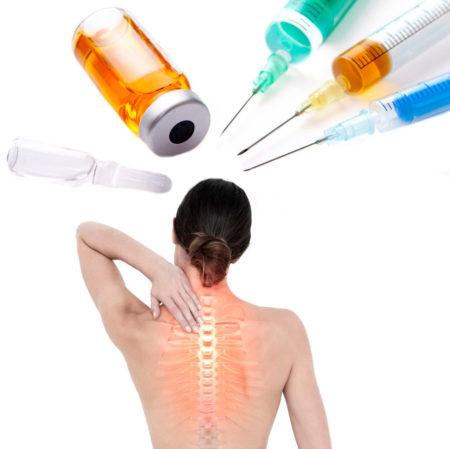 Уколы при грудном остеохондрозе
