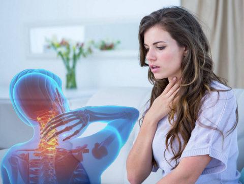 Одышка при остеохондрозе: какие могут быть нарушения дыхания при грудном и шейном остеохондрозе